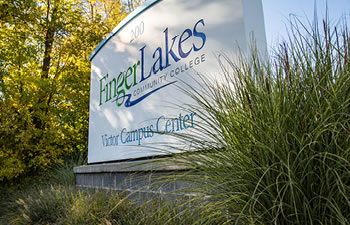 Finger Lakes Community College Victor Campus Center sign