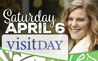 Saturday, April 6 - Visit Day - Student in main lobby at FLCC