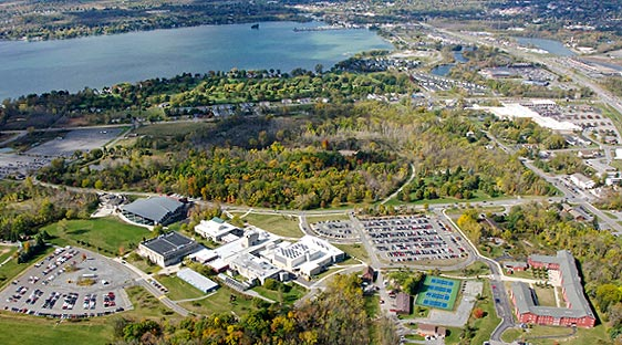 Aerial image of main campus in Canandaigua