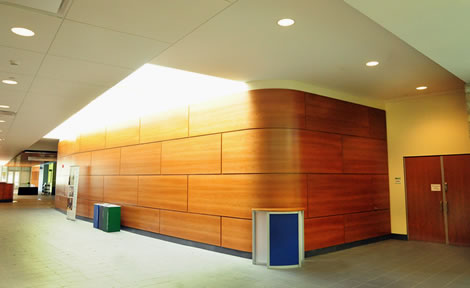 LeChase Construction Auditorium Lobby